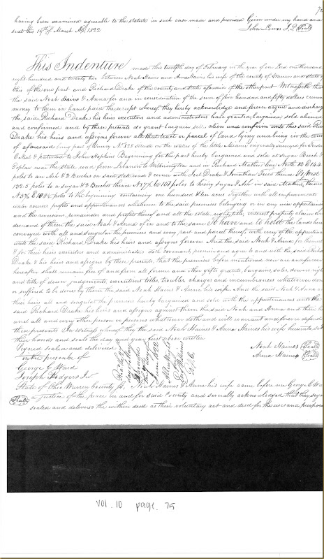 James Irwin of Butler Co, OH sells to David Mizner 14 Mar 1822_0002
