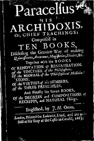 Cover of Paracelsus's Book His Archidoxis Chief Teachings Comprised in Ten Books