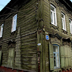 Typowe zabudowania w Irkucku.