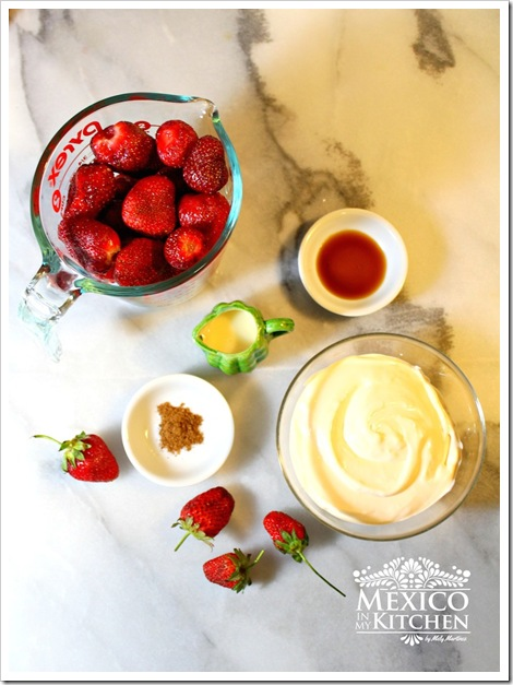 strawberries and cream fresas con crema