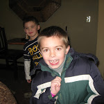 Bryan and Logan Vojtko at Kalahari Water Park hotel in OH 02182012