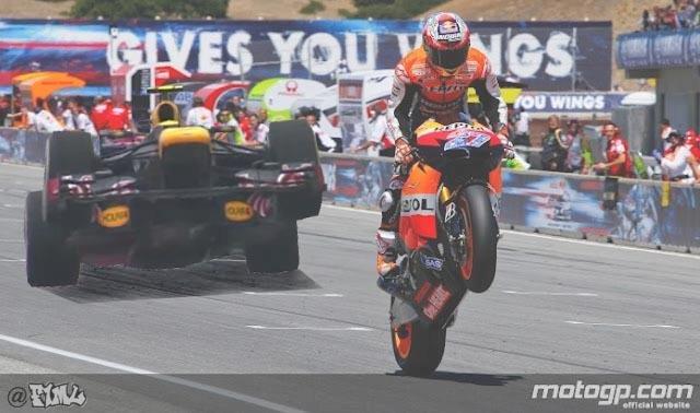 фотошоп F1ML - Марк Уэббер встает на задние колеса на Red Bull на Гран-при Китая 2012