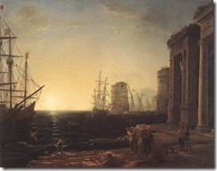 Claude_Lorrain_-_Harbour_Scene_at_Sunset_-_WGA04987