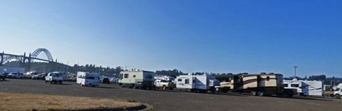 Dry Campgrounds with Yaquina Bay Bridge View