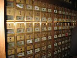 Mailboxes where artists pick up their fan mail in the Grand Ole Opry in Nashville TN 09032011a