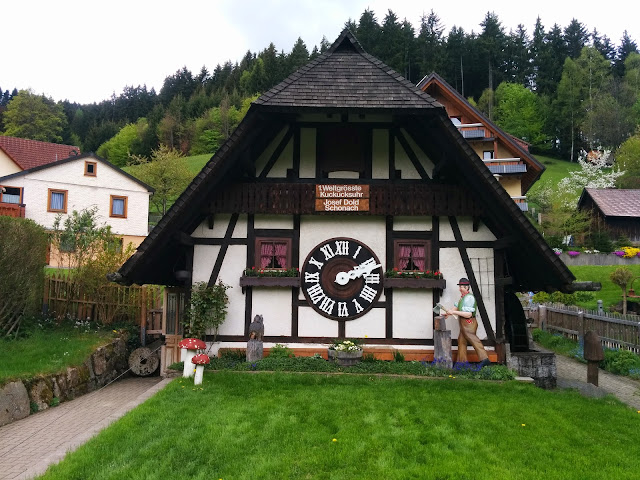 World's largest cuckoo clock near Sconach, Black Forest, Germany