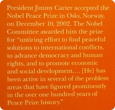 Carter and Nobel Peace Prize