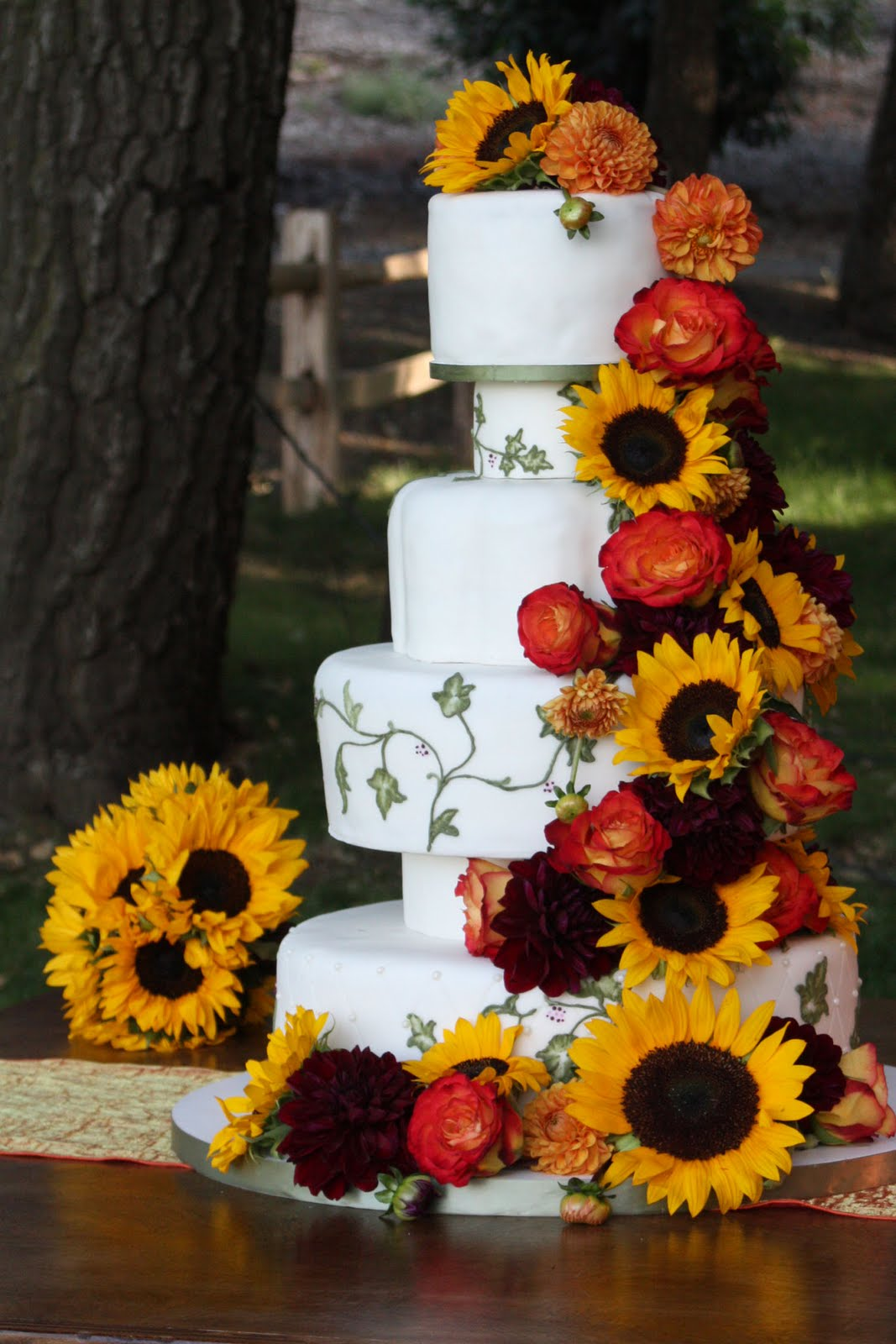 Sunflower Wedding Cake by