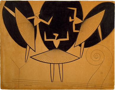 Silhouette, Man Ray (1916) — The Solomon R. Guggenheim Foundation Peggy Guggenheim Collection, Venice, 1976 — 2015 Man Ray Trust/Artists Rights Society (ARS), New York/ADAGP, Paris (Guggenheim.org)