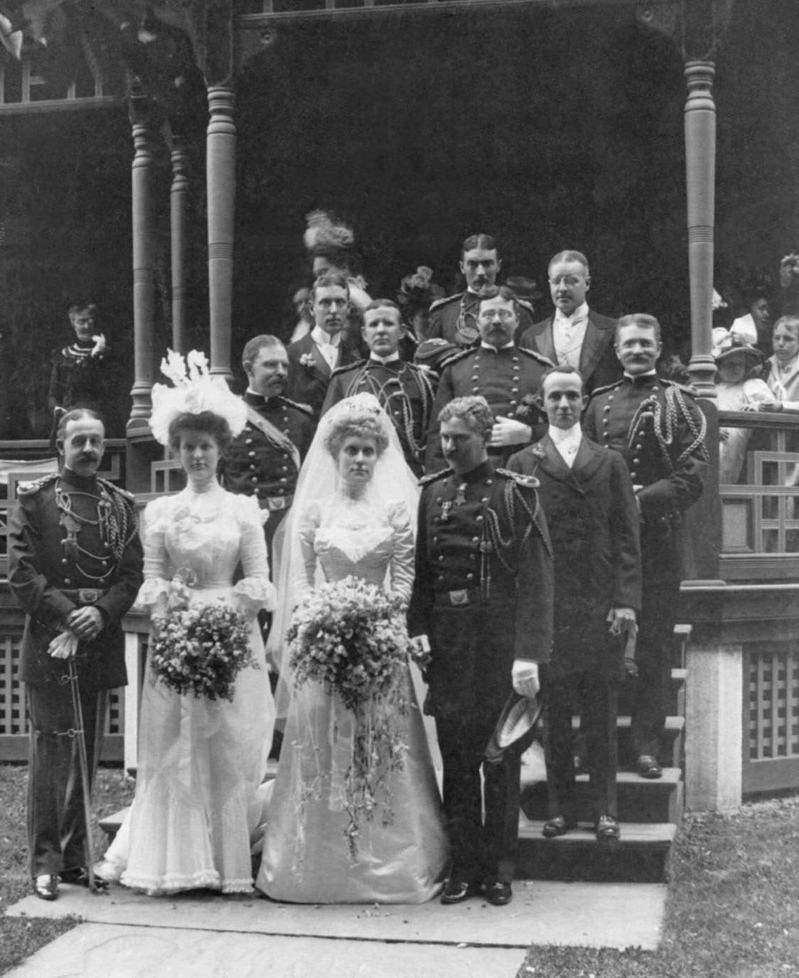 The bridal party at