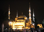 Istanbul - The Sultan Ahmet Mosque (aka Blue Mosque) at night