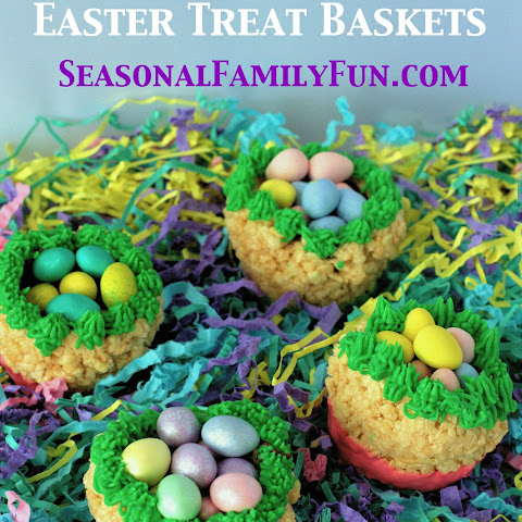 Rice Krispy Easter Treat Baskets