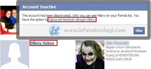 delete teman facebook yang sudah nonaktif deactivated