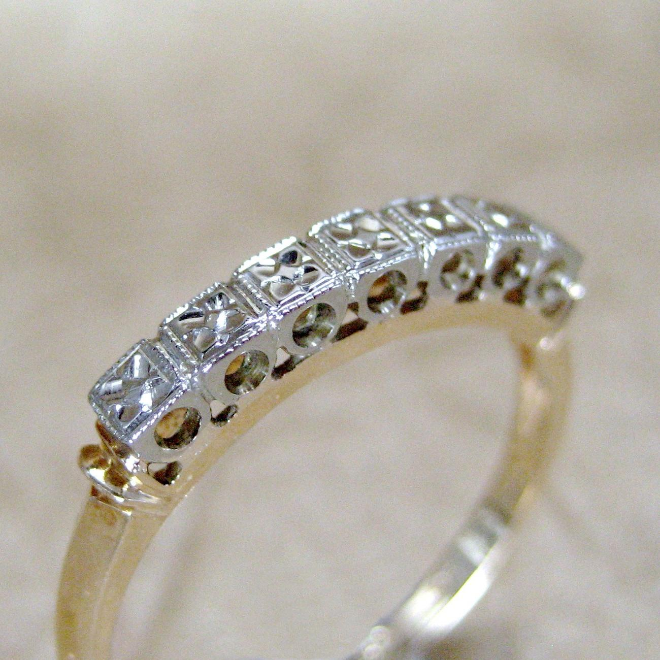 Vintage 14K  18K Gold Wedding