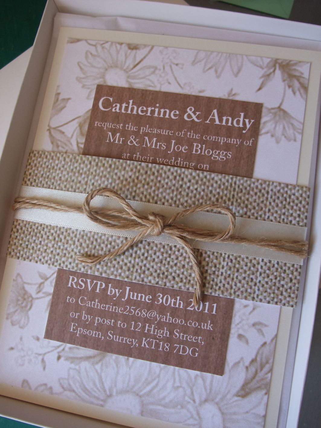 hessian wedding theme ideas