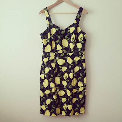 George Asda Lemon Print Dress