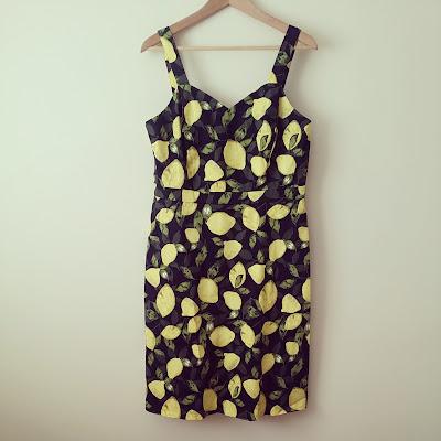 George Asda Lemon Print Dress