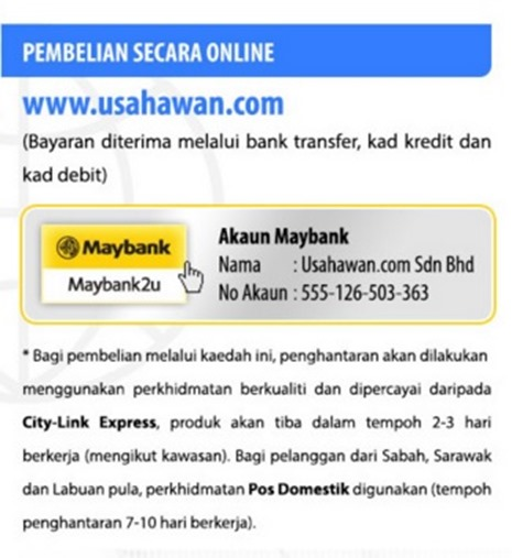 pembelian online usahawan