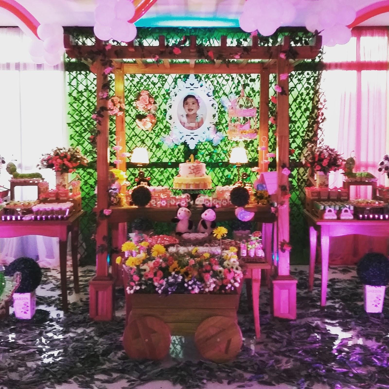 decoracao de aniversario tema jardim encantado:Jardim encantado da Paolla