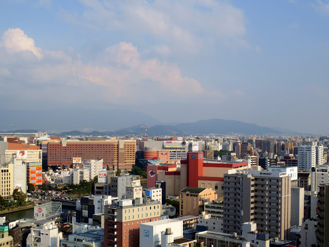 Looking east across Fukuoka, from the top of the ACROS center