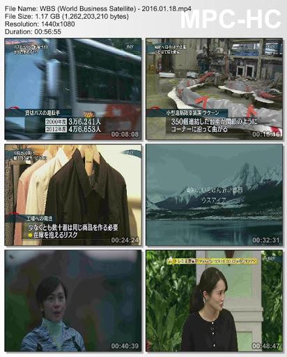 [TV-Variety] WBS (World Business Satellite) – 2016.01.18