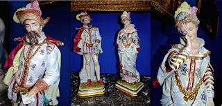 Пара фарфоровых скульптур. Германия 19-й век. Высота 55 см. 4500 евро.