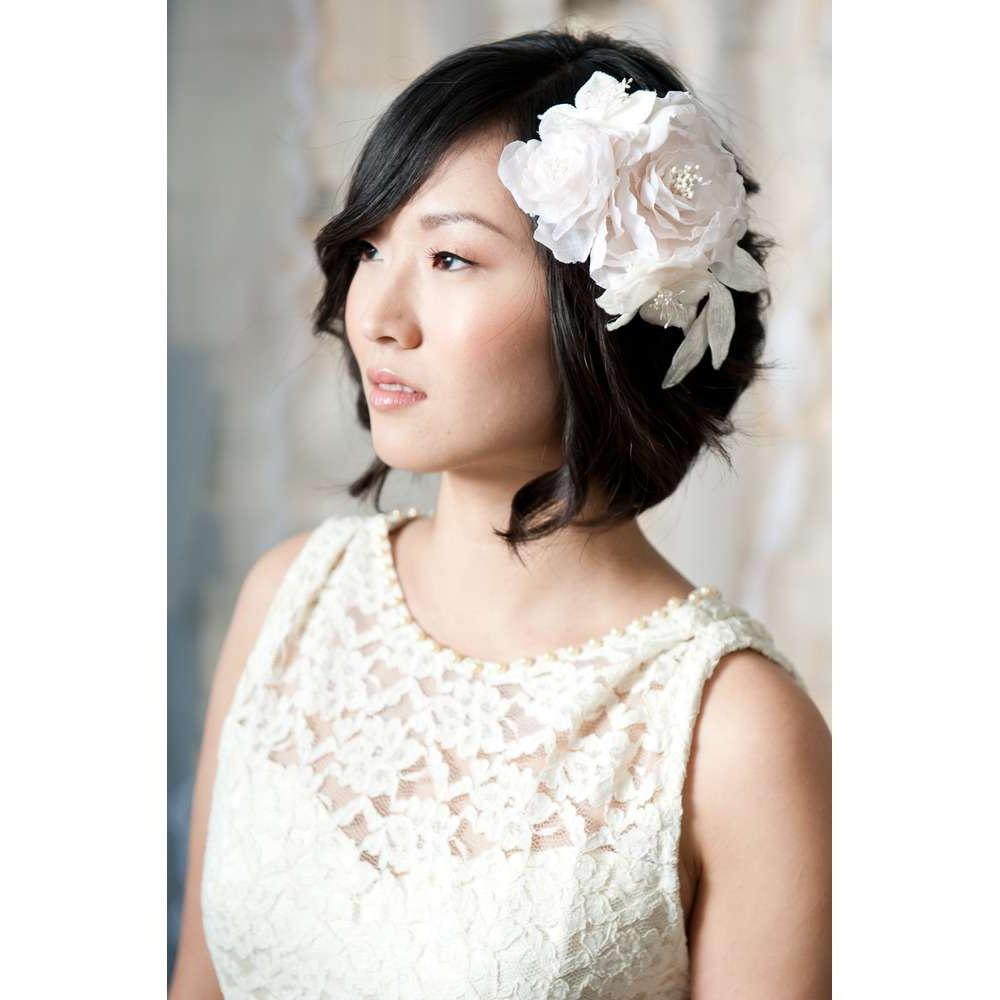 large flower headpiece