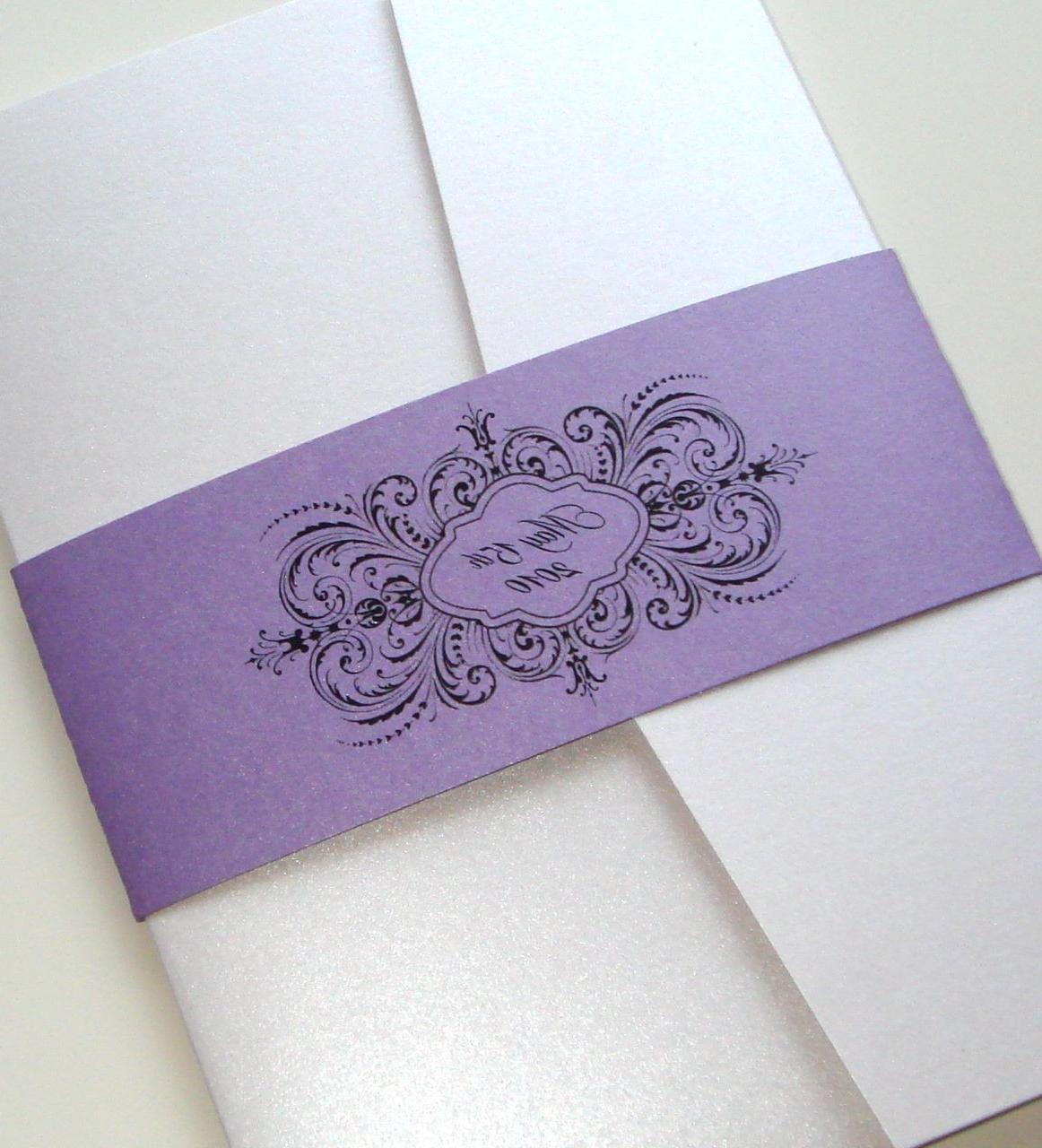 Thalia Pocketfold Wedding Invitation Sample. From embellishedbytiffany