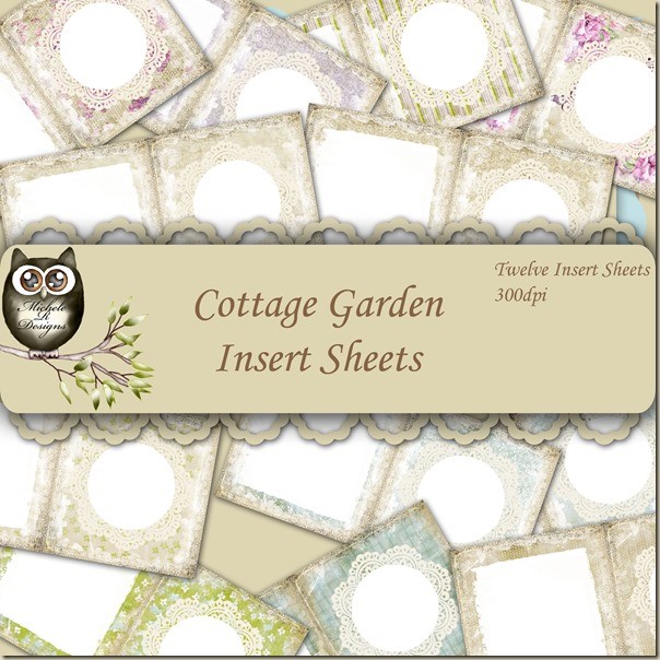 Cottage Garden Inserts Front Sheet