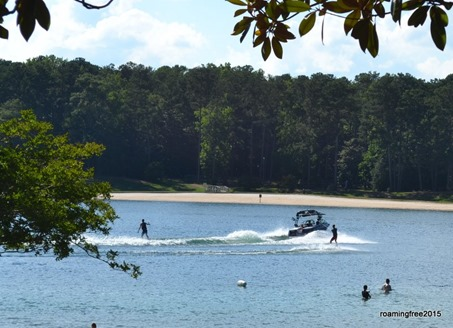 Waterskiing on the lake