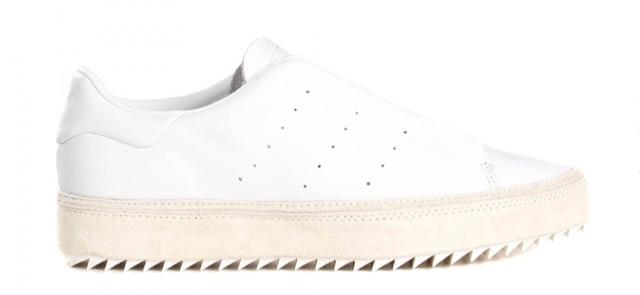 adidas Originals Pointed Court White Flatform Trainers, Asos.com