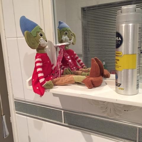 elf on the shelf shaving