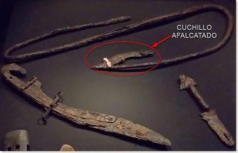 Falcata y cuchillo afalcatado de Cabezo Lucero - MARQ