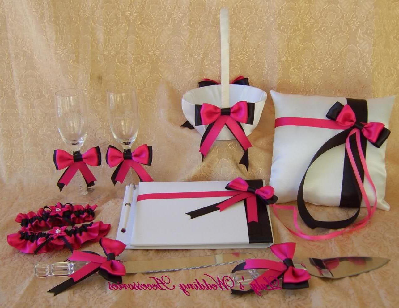 black and fuschia wedding