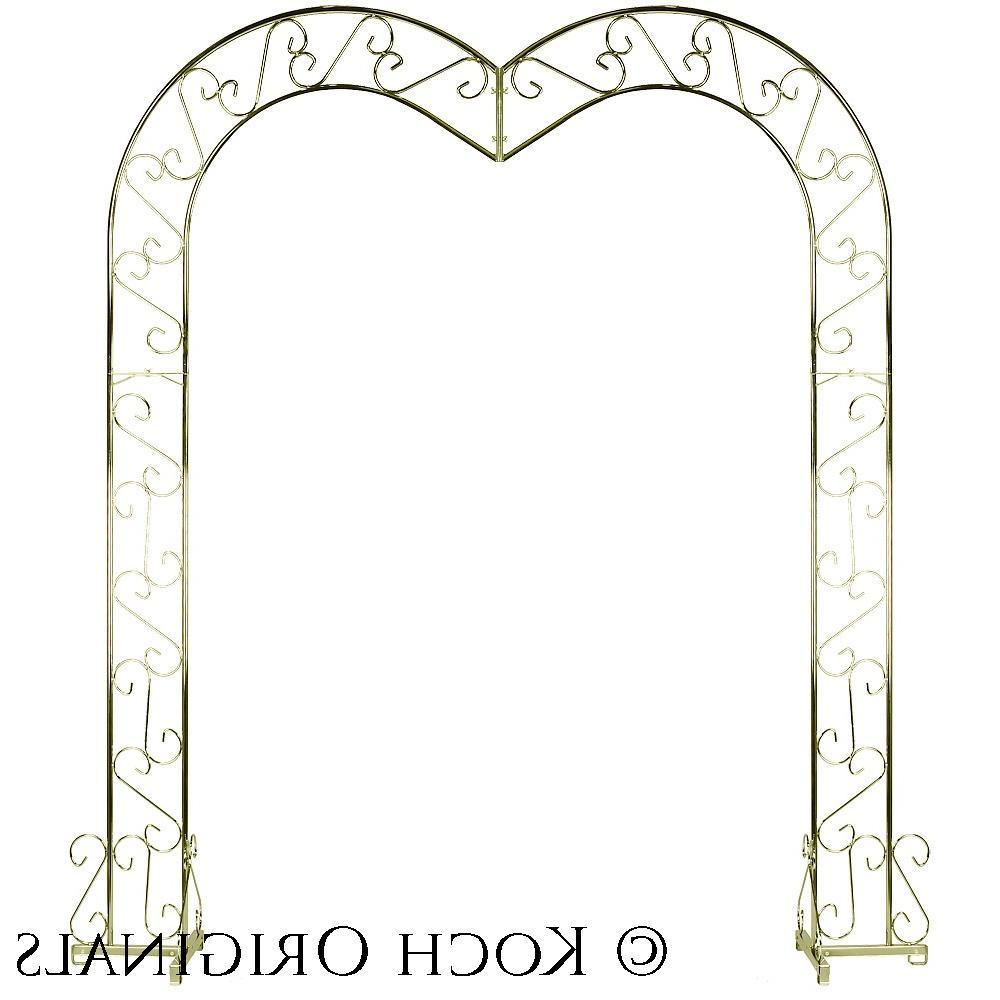 Heart Wedding Arch - Brass