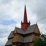 De staafkerk nabij Ringebu.