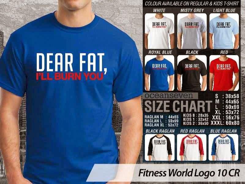 KAOS Dear Fat. Ill Burn You Fitness & Gym Series distro ocean seven