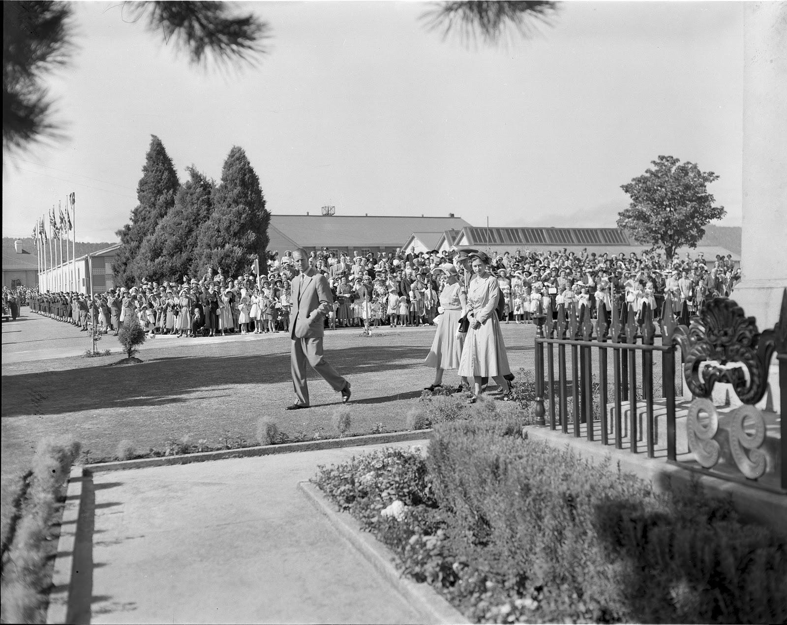 at Anglesea Barracks 1954