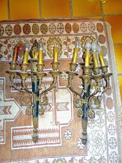 Антикварные настенные светильники в стиле АМПИР. 19-й век. 65/33 см. 3900 евро.