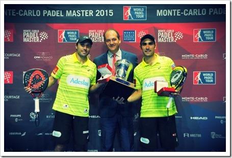 Bela y Lima se hacen con el Monte-Carlo Padel Master World Padel Tour 2015.