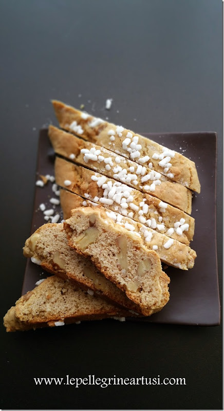 cantucci burro di arachidi e noci