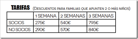 CAMPUS BELA tarifas 2015