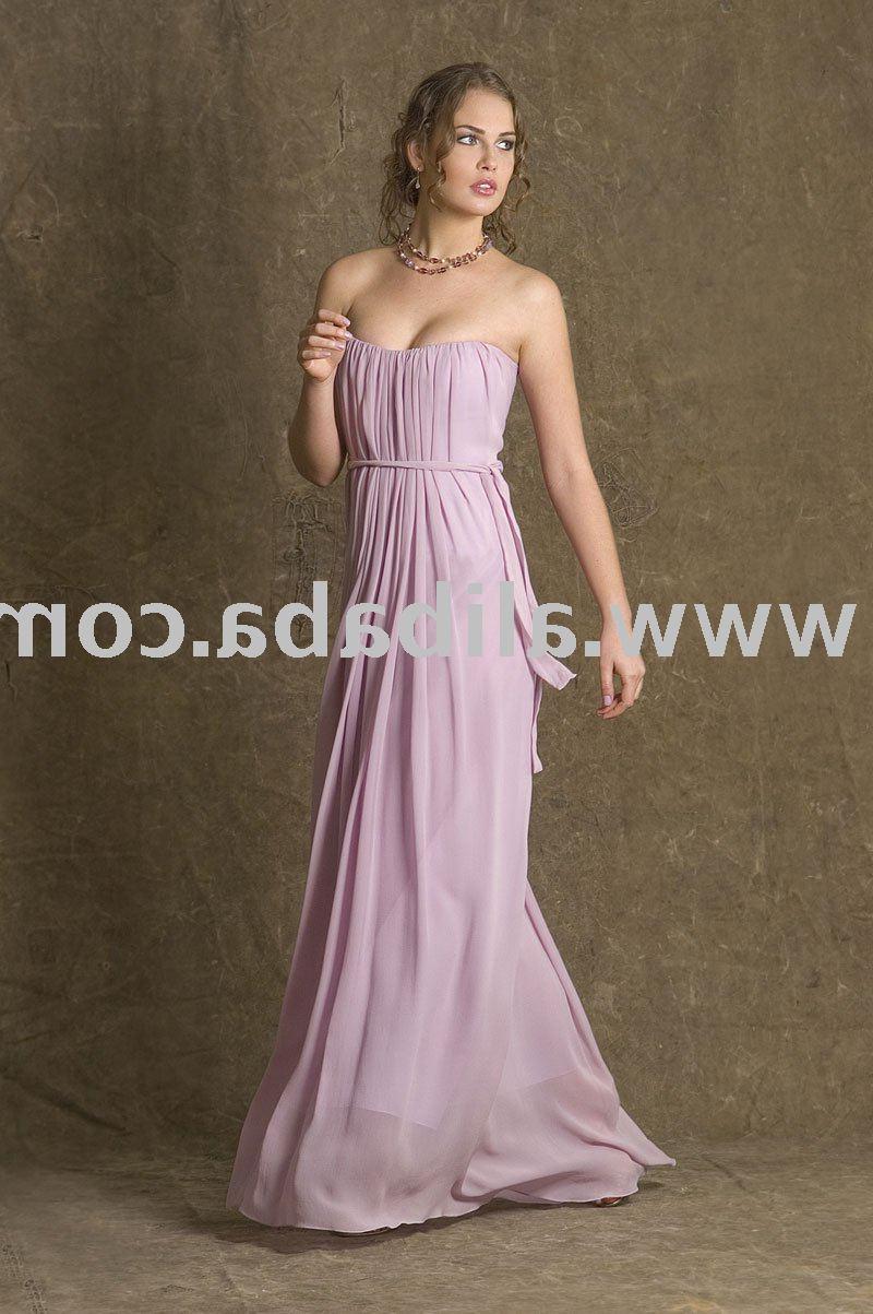 Lilac strapless draped dress