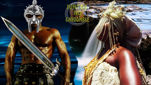 orixa Oxum e Orixa Ogum - Osun seduz o guerreiro de volta a cidade