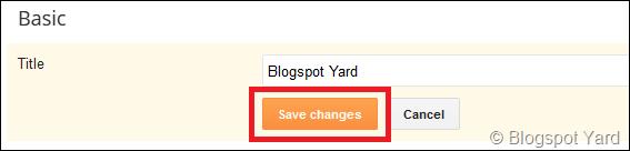 blogger title chage save