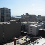 The Memphis skyline taken from the Peabody Hotel roof in Memphis TN 07202012-01