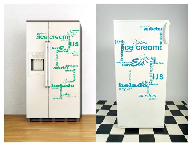 Kreative Kühlschrankaufkleber