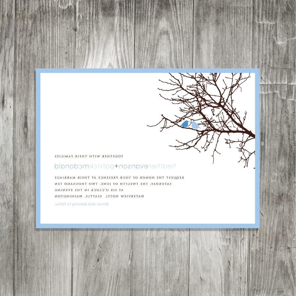 a Tree Wedding Invitation