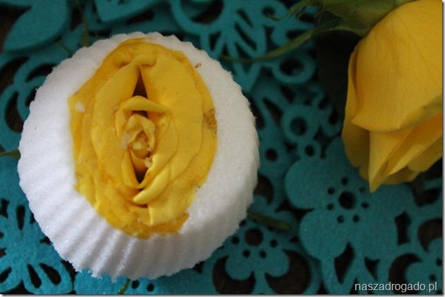 babeczki musujące do kąpieli z różą