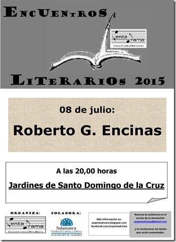 CARTEL ROBERTO G. ENCINAS